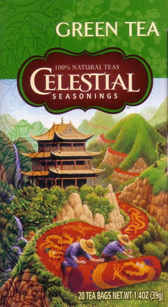 Celestial Seasonings Green Tea - ny förpackning