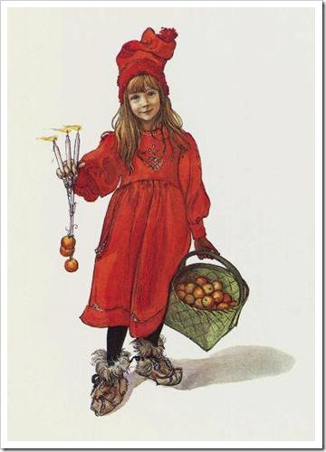 Brita som Iduna, av Carl Larsson.