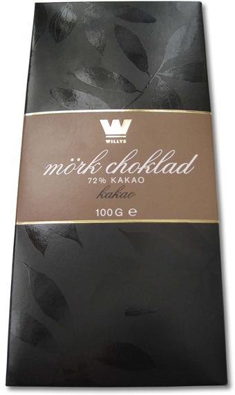 Willy:s mörk choklad 72%