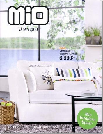 Omslag: Mios vårkatalog 2010