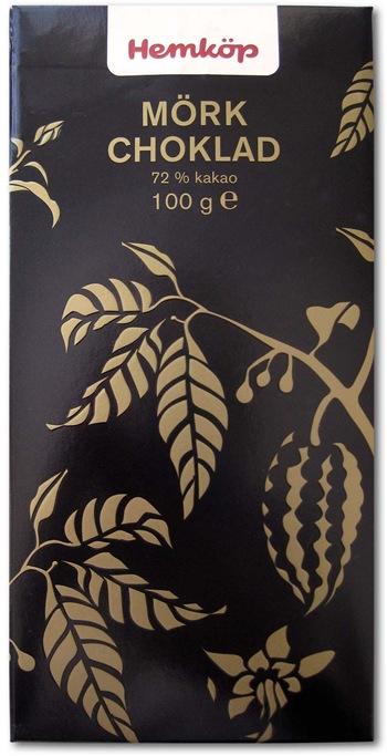 Hemköp Mörk choklad 72%