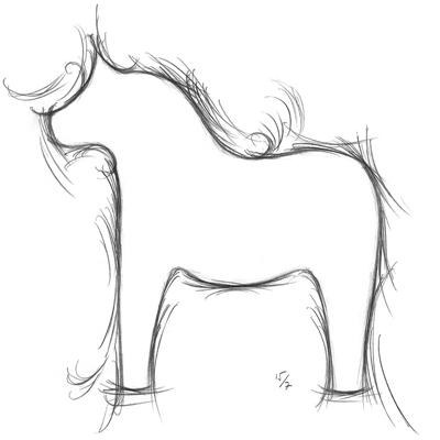 stiliserad dalahäst