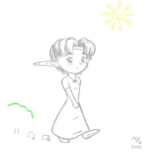 Mei på promenad
