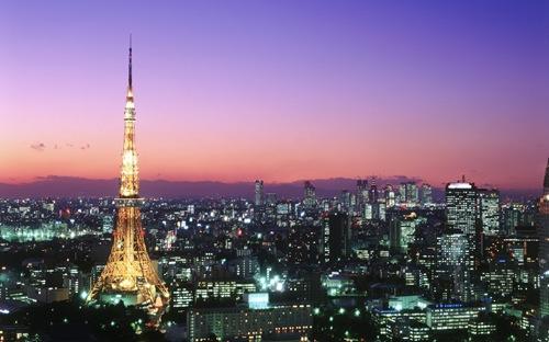 東京タワー (Tokyo Tower och Roppongi, Japan)
